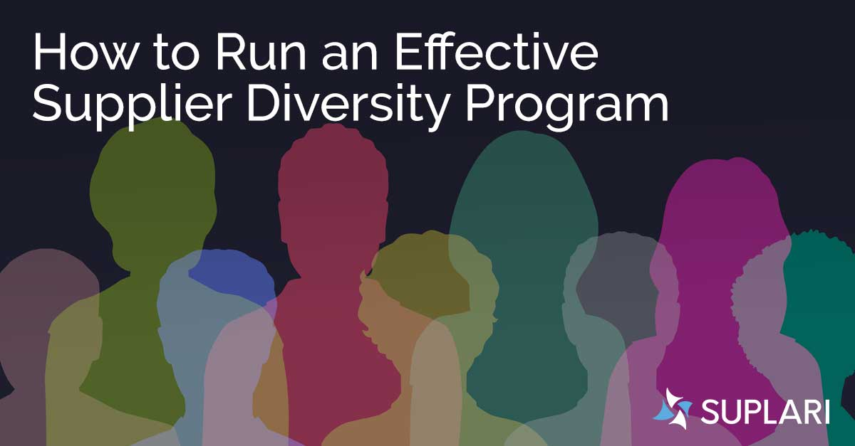How Procurement Can Run an Effective Supplier Diversity Program