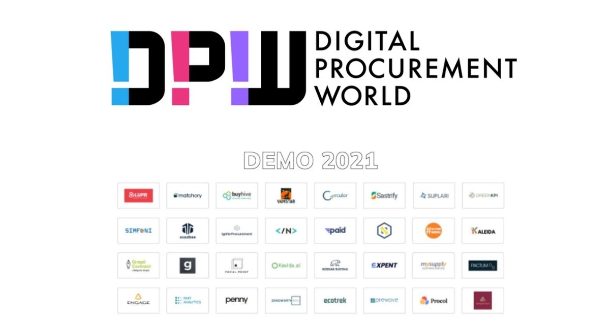 Digital Procurement World (DPW) Includes Suplari in list of Most Disruptive Startups for DEMO 2021