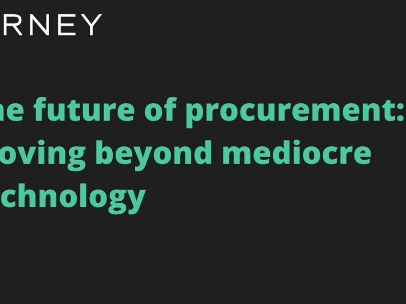 Kearney – The Future of Procurement: Moving Beyond Mediocre Technology