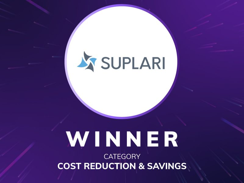 Suplari Named Winner of DPW's DEMO 2021 Cost Reduction & Savings Category
